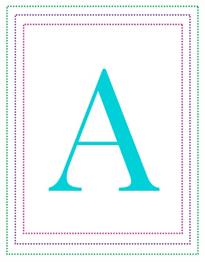 photo relating to Printable Letter a named Free of charge Printable Alphabet Letters A towards Z