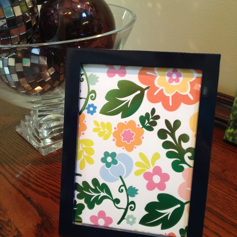 Inexpensive Way to Dress Up a Cheap Picture Frame