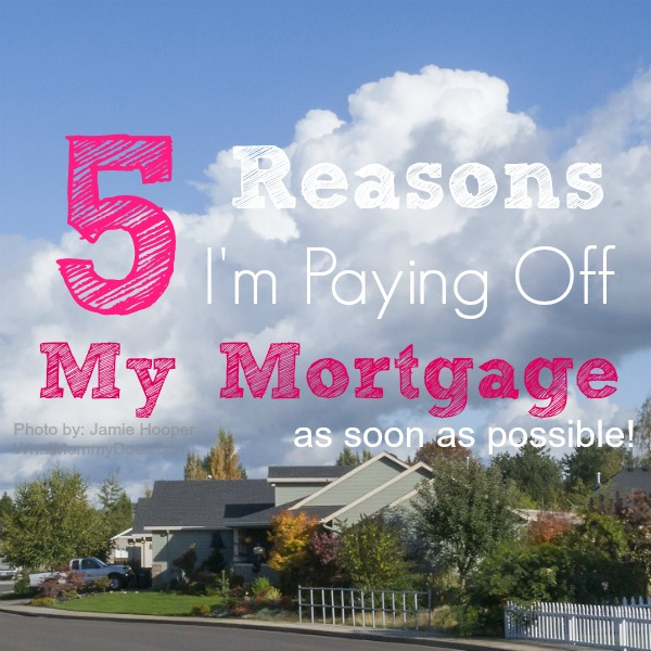 There are so many reasons to pay off your home mortgage early. Living debt free, including the amount of money you owe on your house & credit cards, allows you to live a life of freedom most will never experience. Mortgage payoff is in the cards for me...click here to learn exactly what I will be doing to make extra money on the side so I can afford added mortgage payments to be completely debt free.