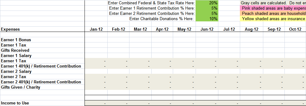 Free Sample Monthly Expenses Spreadsheet What Mommy Does