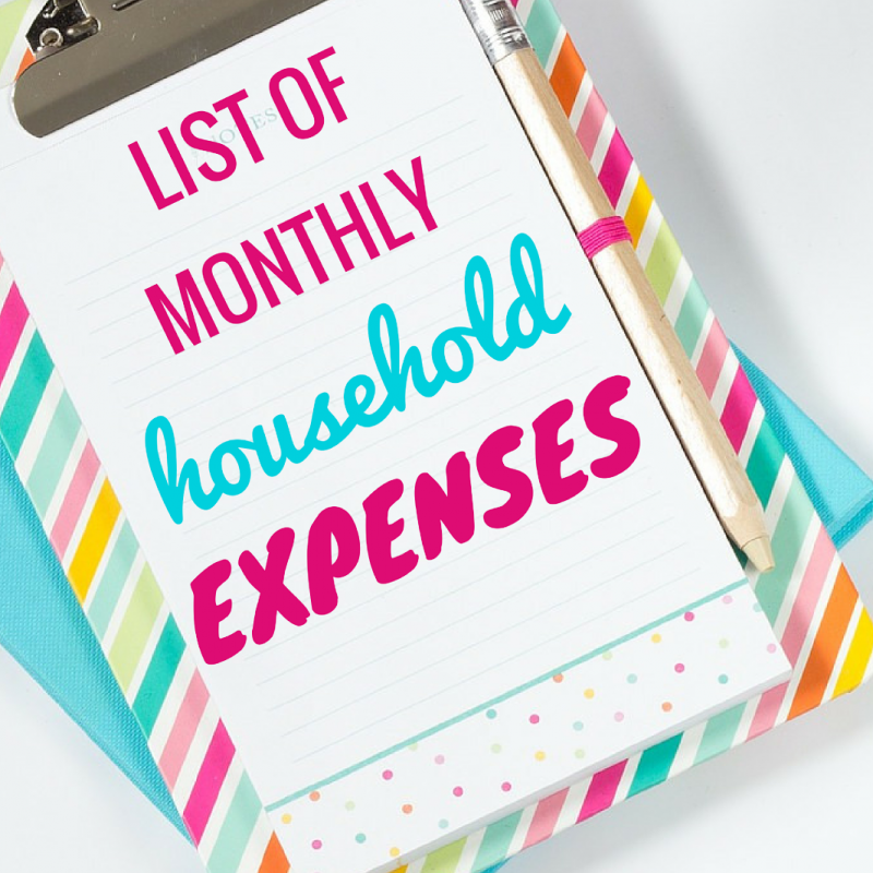 Read this list of monthly expenses so you will be able to create budget that saves money for your family!