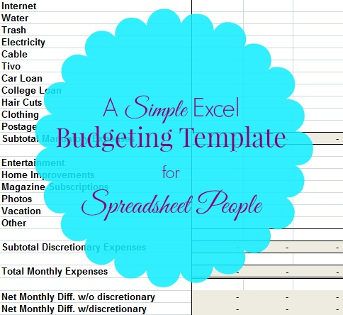 budgeting help - a simple budgeting template for spreadsheet people