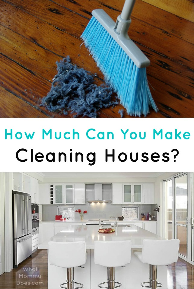 cleaning houses for extra cash - how much can you make per hour?