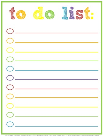 photo regarding Cute Printable to Do List known as Free of charge Printable In direction of-Do Lists Lovable Colourful Templates
