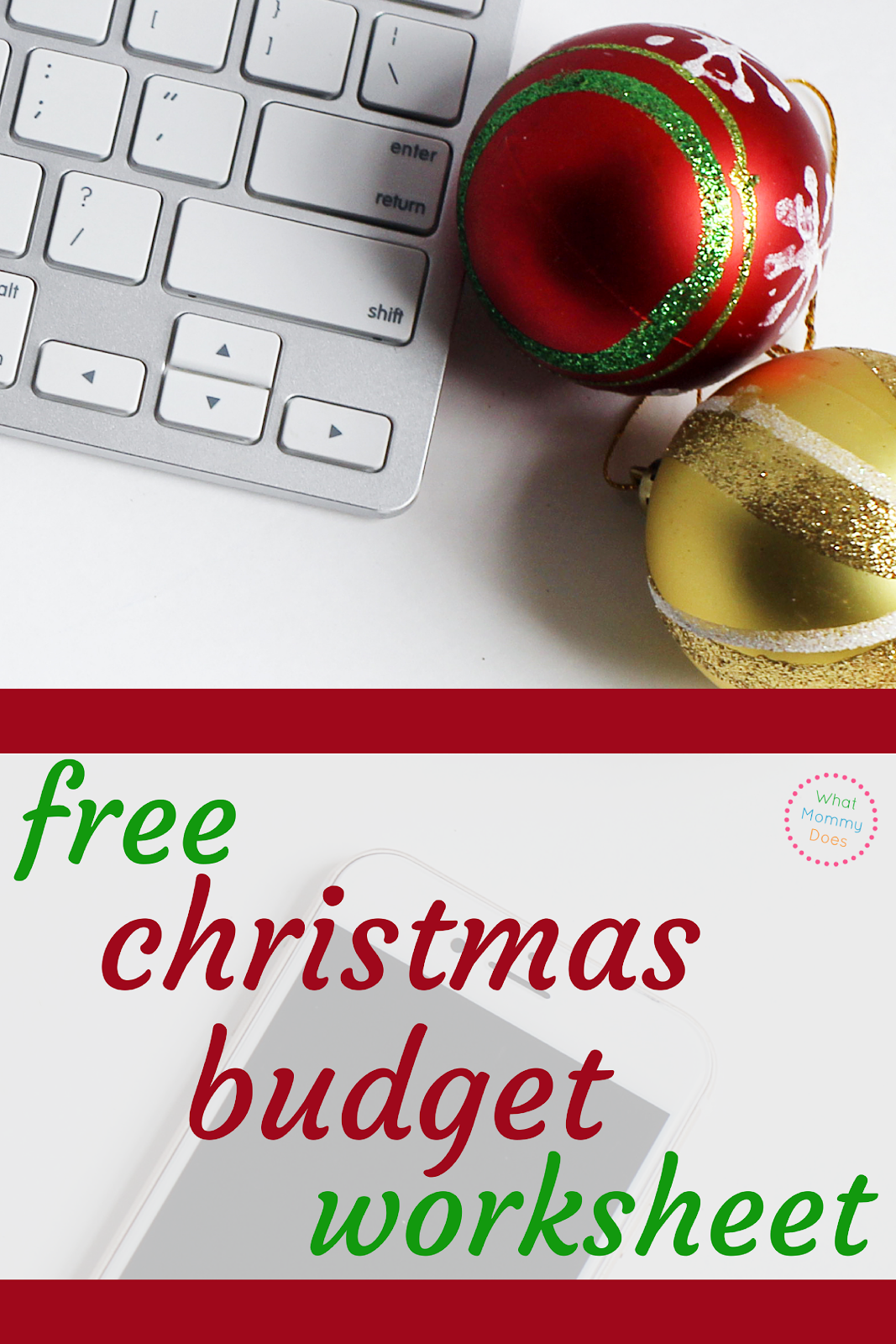 Use this Free Christmas Budget Printable to track your holiday spending!