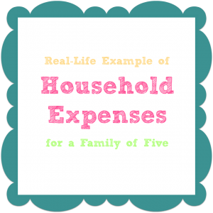 Household Expenses Checklist - Five Person Family Example