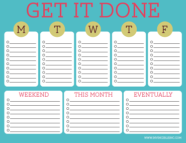 graphic relating to Printable Weekly to Do List referred to as Absolutely free Printable Towards-Do Lists Adorable Vibrant Templates