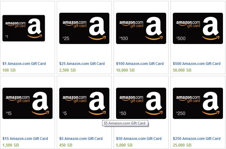 Swagbucks Amazon Gift Cards