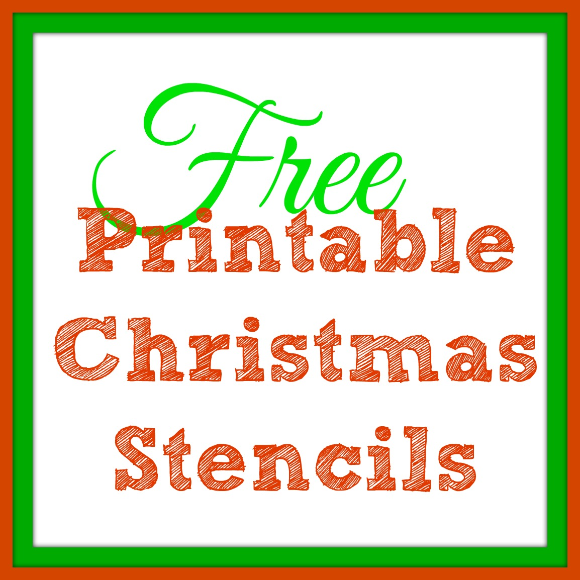 Pine Tree Stencil Christmas trees and more