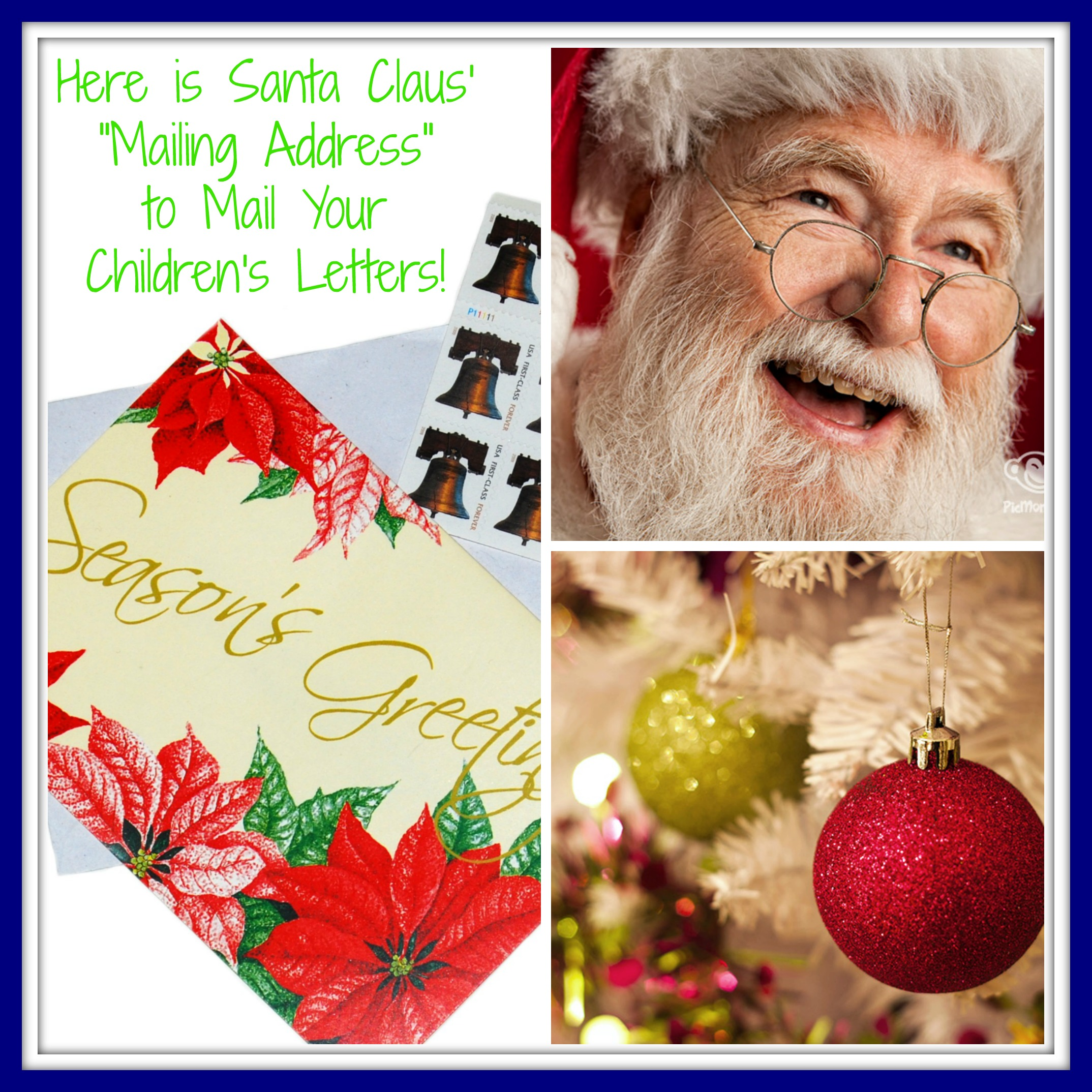 North pole mailing address i need a place to send santa his letter