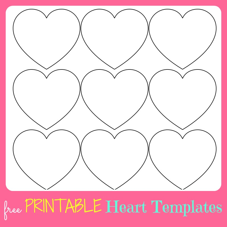 Free printable valentine 39 s day to do lists for Small heart template to print