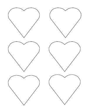 image relating to Printable Valentine Hearts known as Totally free Printable Middle Templates Hefty, Medium Minimal