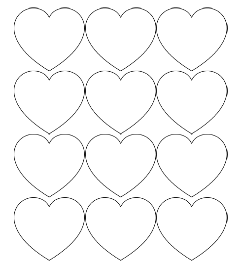 Free Printable Heart Templates – Large, Medium & Small ...