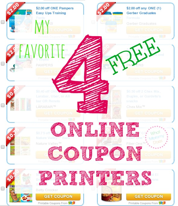 There are so many tricks to saving money on food & household items with coupons. I like having links to these 4 online coupon websites up my sleeve. Part of my coupon tips for beginners series. There are free printable coupons for the grocery store and drug store, Target, and CVS, really anywhere that accepts manufacturer's coupons.