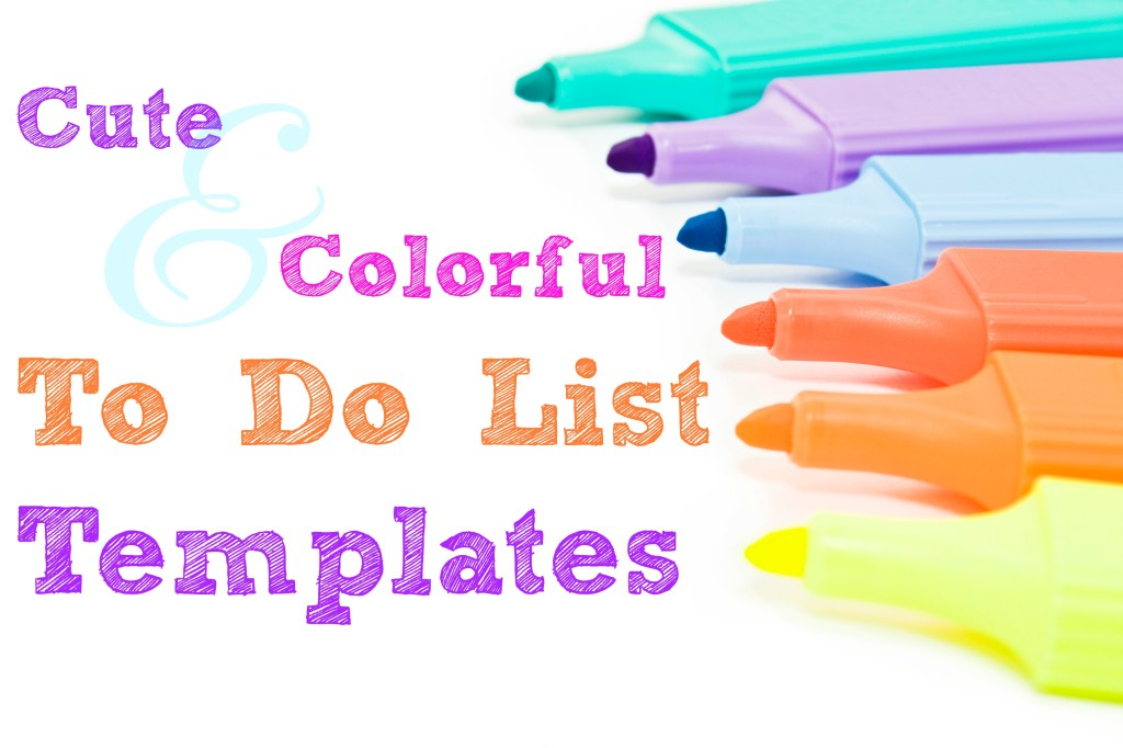 Cute Colorful To-Do List Templates