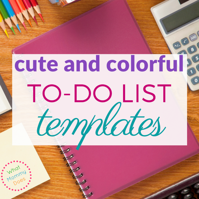 Free Printable To Do List Templates - good for chores, meal planning, and random list making! :)