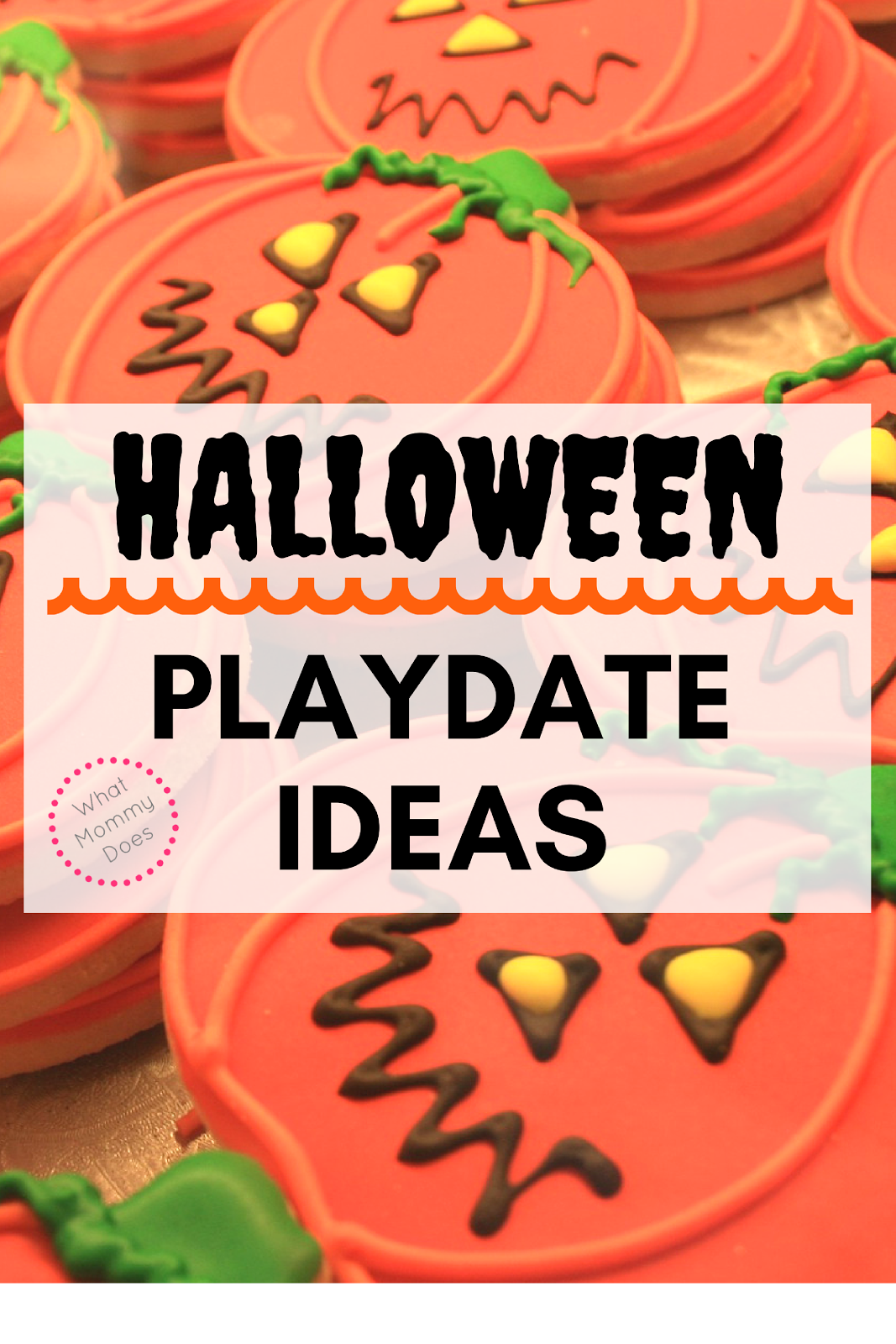Lots of fun Halloween playdate ideas listed here. Now, I want to plan some of these Halloween activities for my own kids and their friends!!