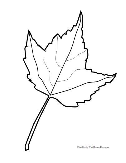 Free printable maple leaf patterns large medium small for Maple leaf coloring pages