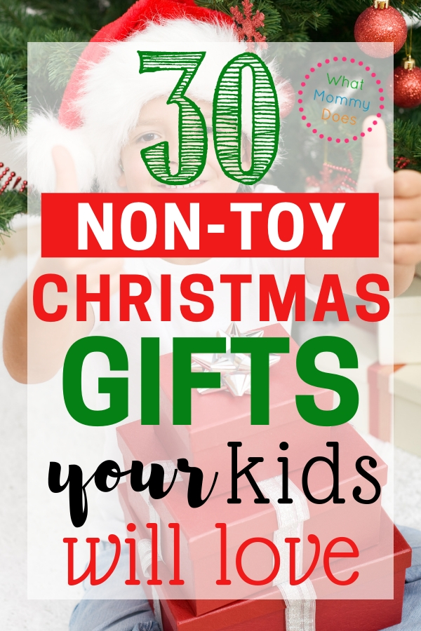 If you want to give your kids MEANINGFUL Christmas gifts, then you have to see this list! This is a great list of fun non-toy Christmas gift ideas for kids of any age. This will simplify Christmas for your family. | minimalist Christmas, holiday declutter, decluttering bug, presents for kids