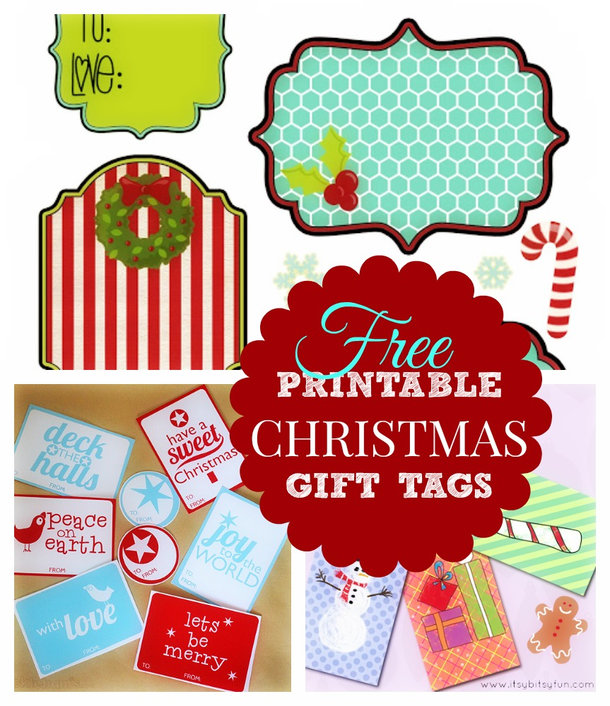 Christmas Gift Tags - Free Printable Templates