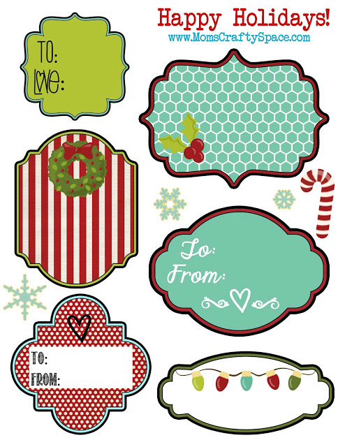 Christmas gift tags from Happiness is Homemade