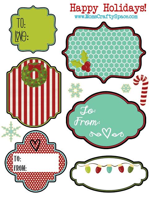 More Free Printable Christmas Gift Tag Templates