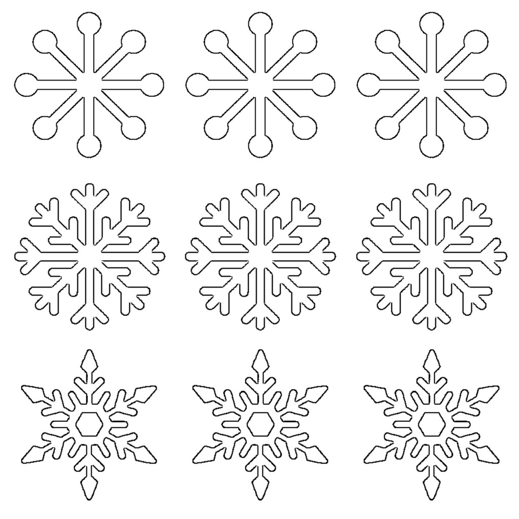 picture regarding Free Printable Stencils to Cut Out known as Totally free Printable Snowflake Templates Substantial Tiny Stencil