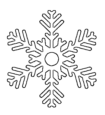 big snowflake printable