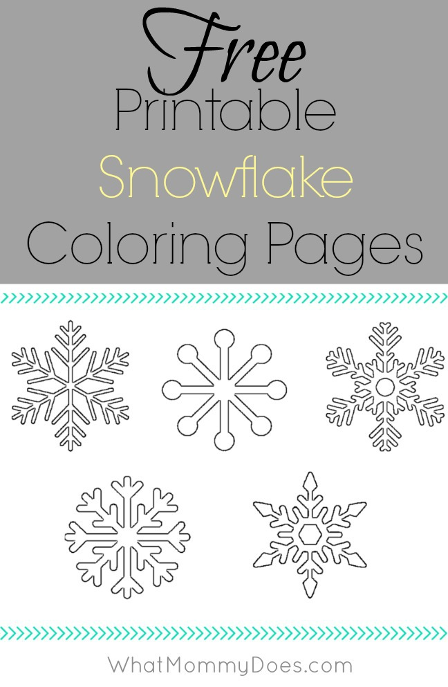 free printable snowflake coloring pages - free printable snowflake coloring pages