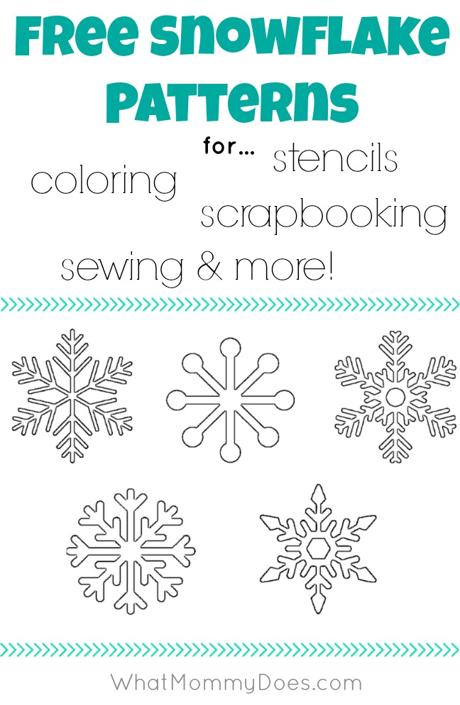 ... Winter Stencils - Printable Snowflake & Snowman Templates & Patterns