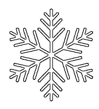 large snowflake pattern - free printable