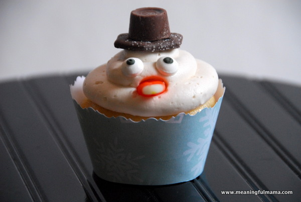 snowman cupcake recipe from meaningful mama