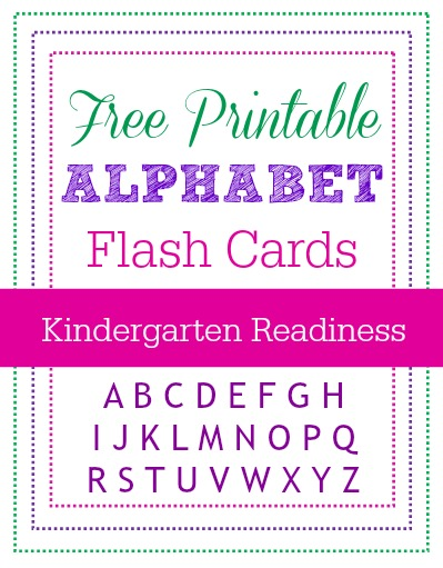 Alphabet Flash Cards - full set of LARGE printable templates