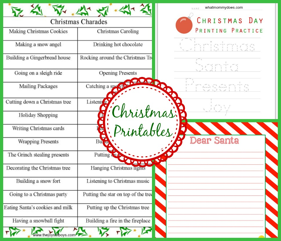 Christmas Charades.Christmas Themed Crafts Games Activities For Kids What