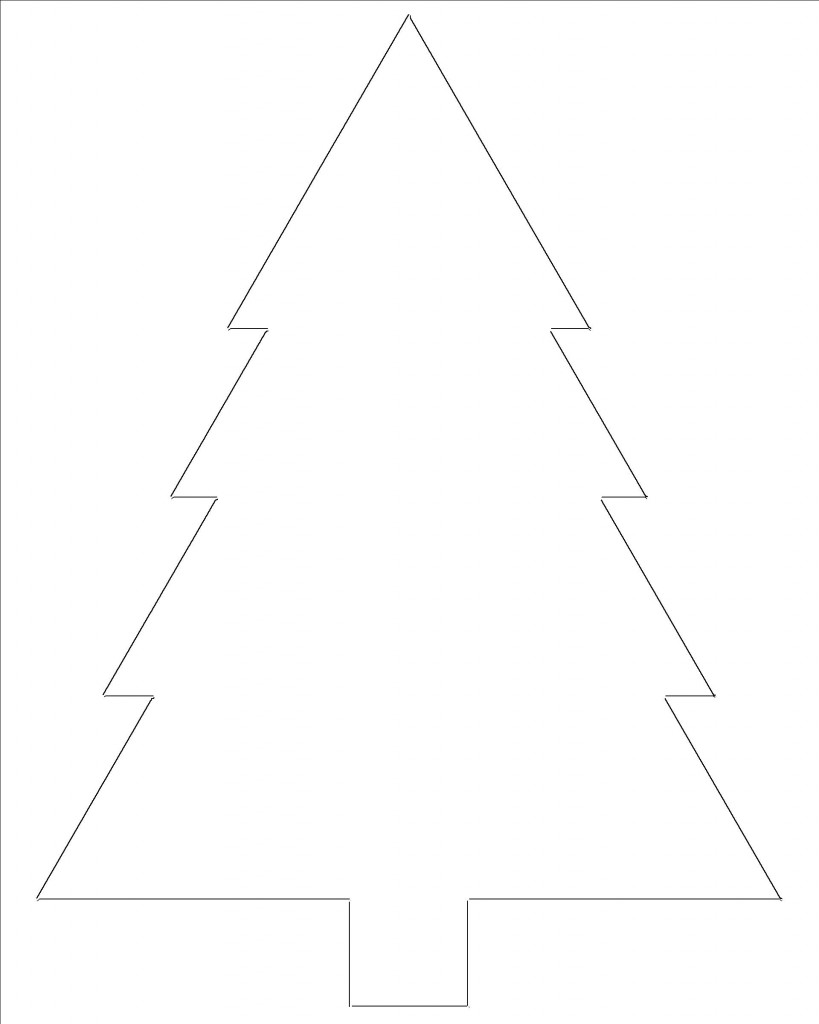 picture relating to Free Printable Christmas Cutouts named Free of charge Printable Xmas Tree Templates