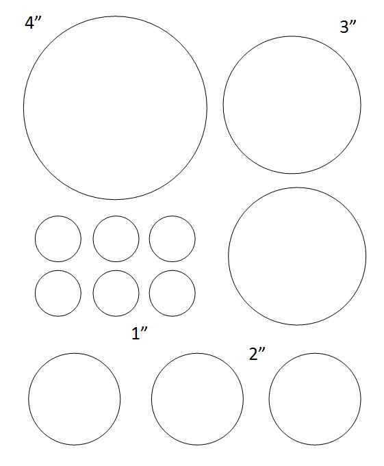 photo regarding 2 Inch Circle Template Printable identify Absolutely free Printable Circle Templates - Major and Minimal Stencils