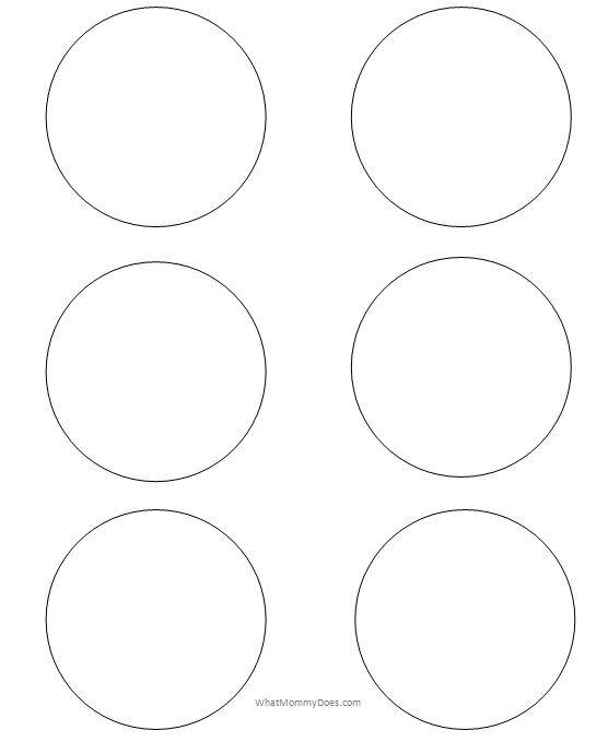 graphic regarding Thing 1 and Thing 2 Printable Cutouts named Absolutely free Printable Circle Templates - Major and Tiny Stencils