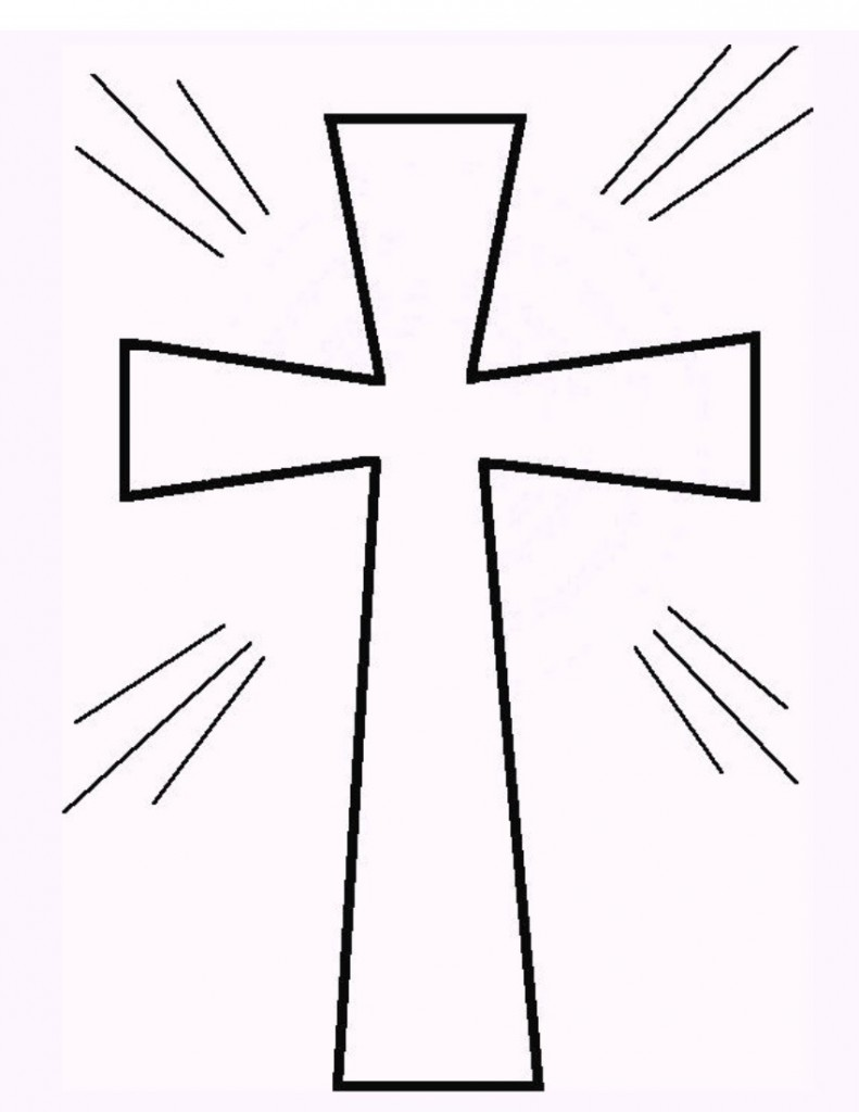 Printable coloring pages of crosses - Cross Coloring Page 1