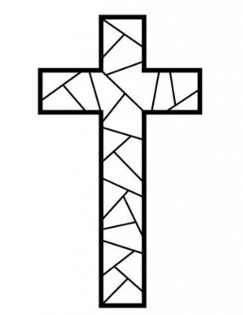 image regarding Printable Cross Pattern called Cost-free Printable Cross Coloring Internet pages - What Mommy Does