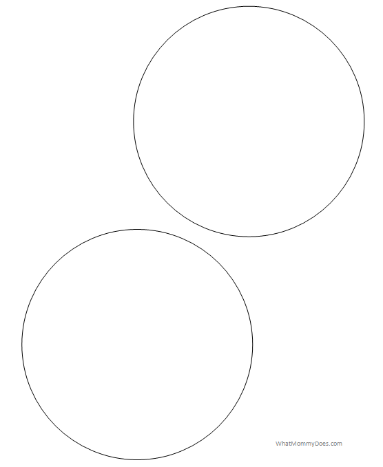 Large 5 Inch Size Printable Circles