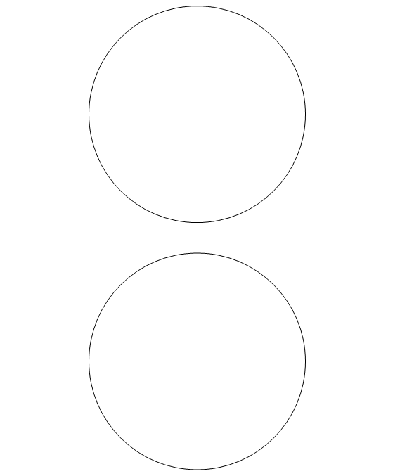 photograph regarding Circles Printable known as No cost Printable Circle Templates - Huge and Very little Stencils