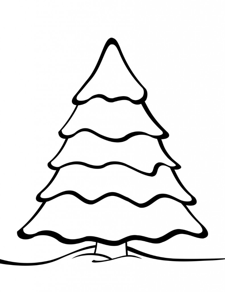 Christmas Tree Outline.Free Printable Christmas Tree Templates