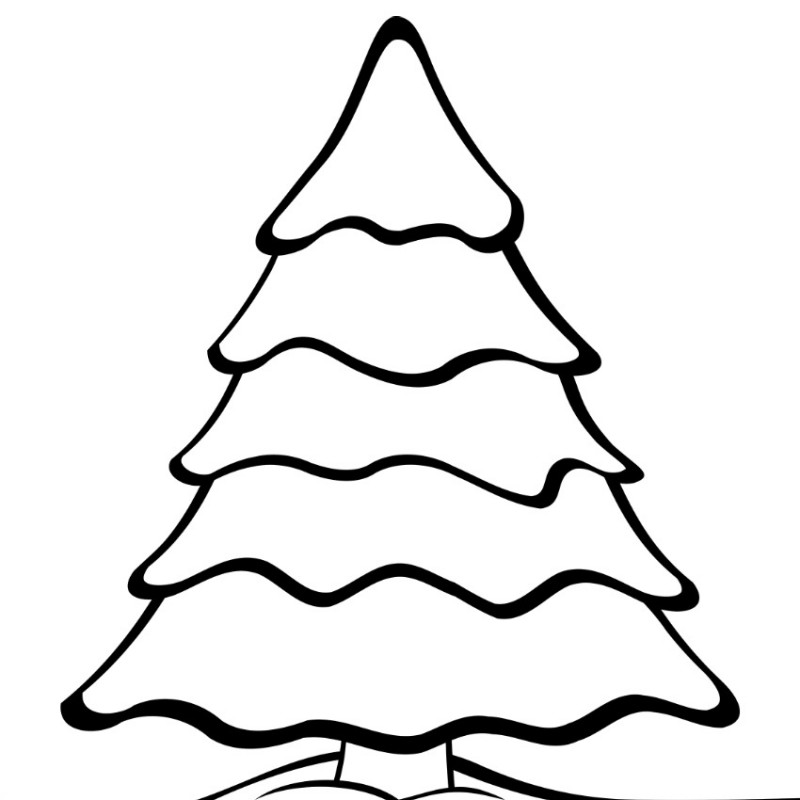 plain christmas trees coloring pages - photo#2