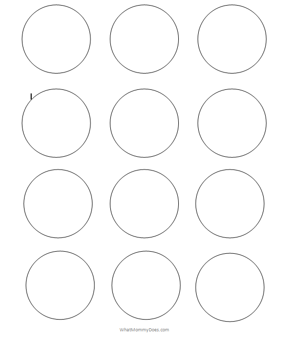 photo relating to Thing 1 and Thing 2 Printable Cutouts identified as Absolutely free Printable Circle Templates - Significant and Low Stencils