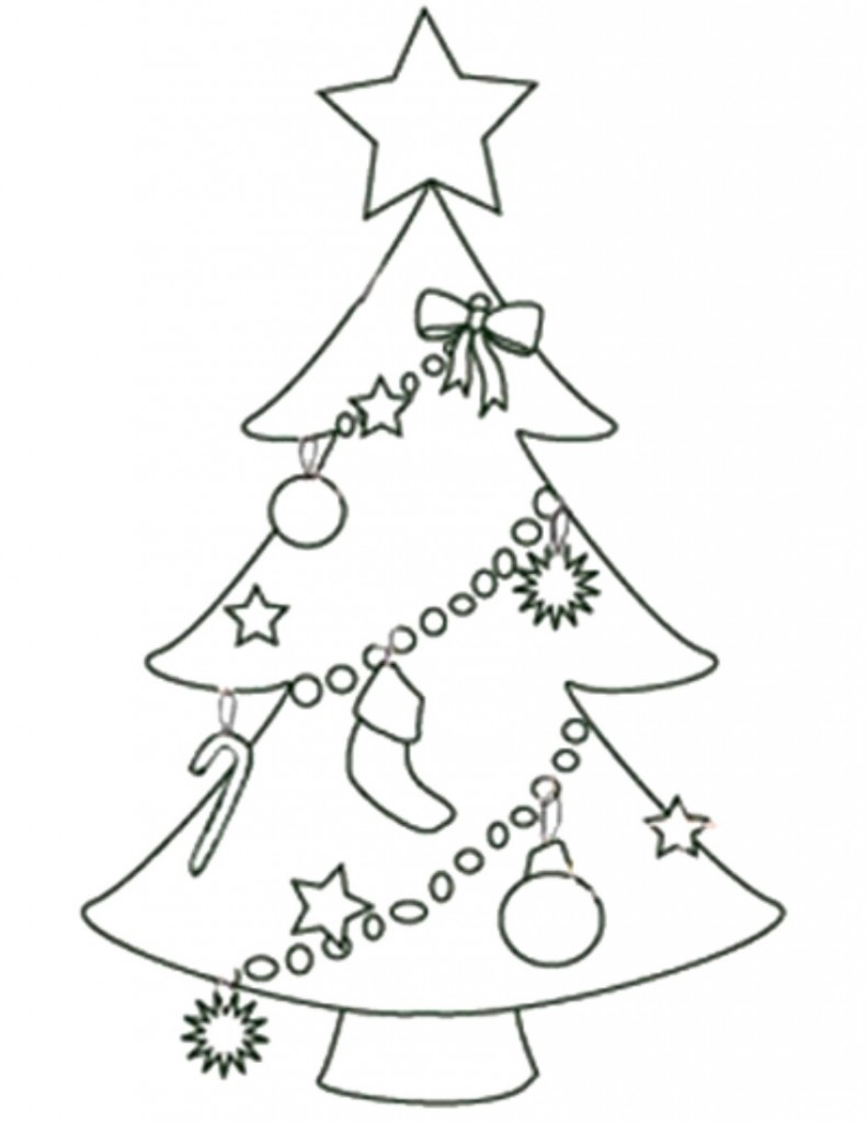 Free Printable Christmas Tree Templates Tree Decorations Coloring Pages