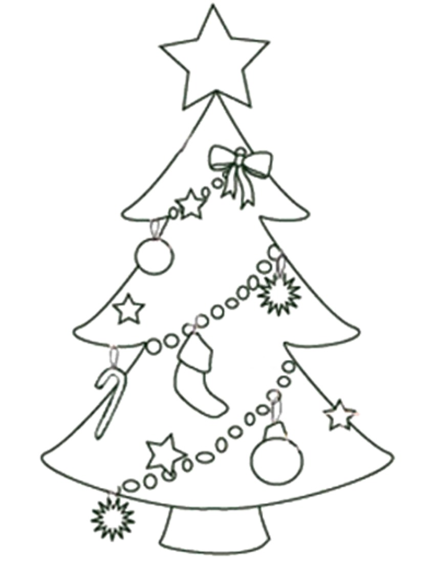 Striking image intended for printable christmas trees
