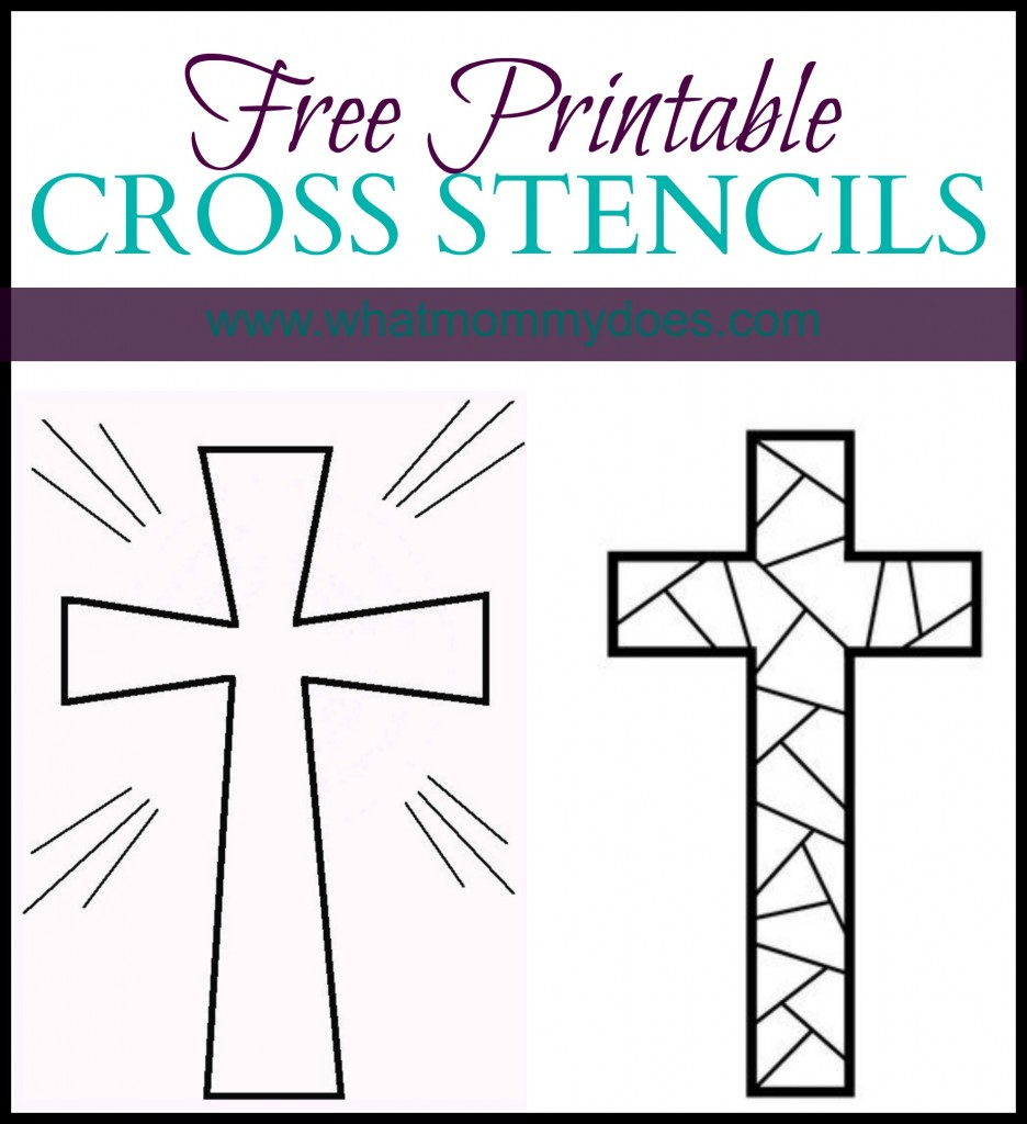 Printable coloring pages of crosses - Free Printable Cross Stencils