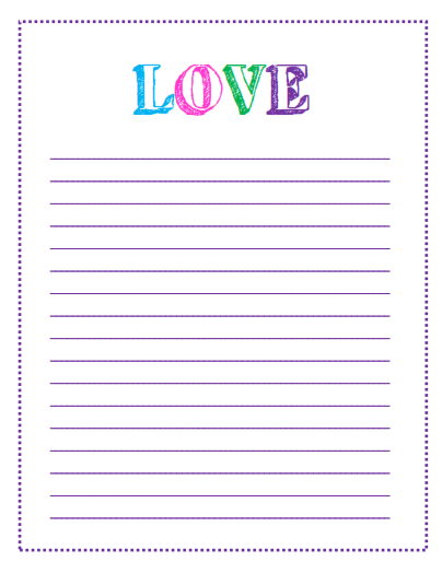 7 LOVE themed to do list template