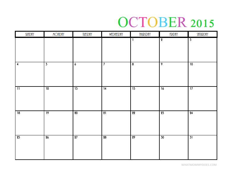 Calendar Month Template 2015 Militaryalicious