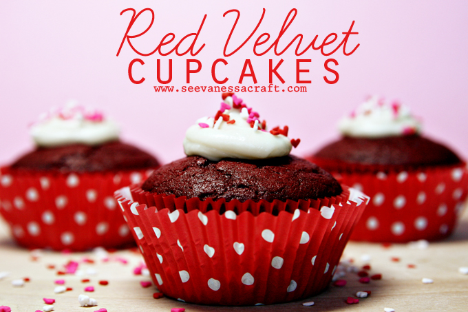Red-Velvet-Cupcakes for Valentine's Day